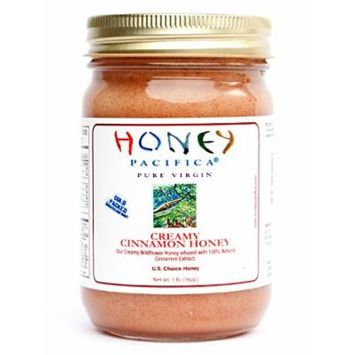 Creamy Cinnamon Honey by Honey Pacifica - Raw Honey with Cinnamon - Unheated & Unprocessed