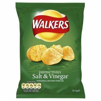 Walkers Salt & Vinegar Crisps. Case of 32 -