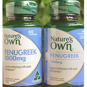 Nature's Own Fenugreek 1000mg 60 Capsules Origin of Australia