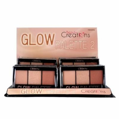 BEAUTY CREATIONS Glow Palette 2 Display Set, 12 Pieces