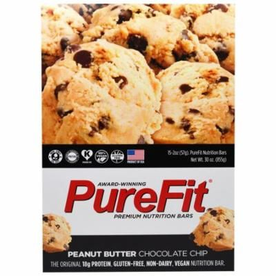 Pure Fit Bars, Premium Nutrition Bars, Peanut Butter Chocolate Chip, 15 Bars, 2 oz (57 g) Each(pack of 3)