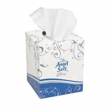 Angel Soft Ps Ultra Premium Facial Tissue with Cube Box in White