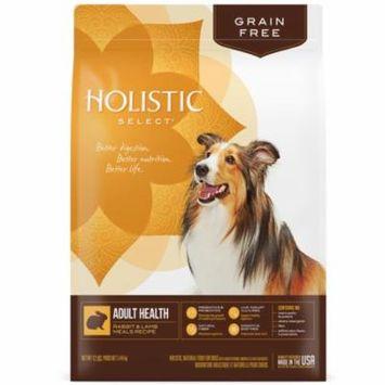 Holistic Select Natural Grain Free Dry Dog Food, Rabbit & Lamb Meals Recipe, 12-Pound Bag