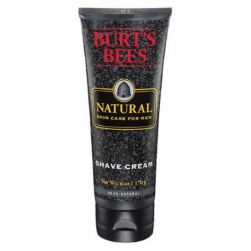 Burt's Bees Natural Skin Care for Men Shave Cream 6.0 fl oz(pack of 6)