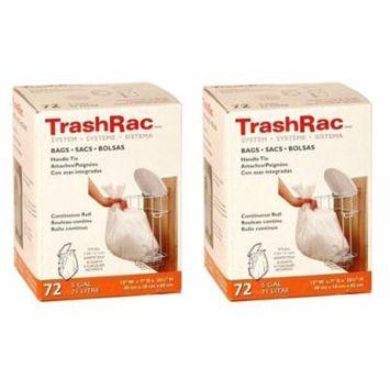 Sunbeam Trashrac Trash Bags 5 Gal. 0.7 Mil 72 Bags - Psack of 2 (Total 144 Bags)