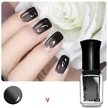 DZT1968 1bottle/6ml Multicolor no-fadeThermal Nail Varnish Color Changing Peel Off Varnish Beauty Sexy Cosmetic