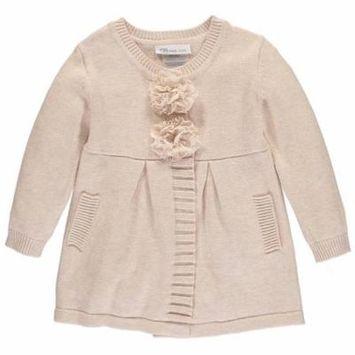 Bonnie Jean Girls 2T-4T Flower Coat
