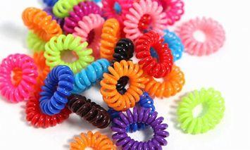 Yphone Coil Rainbow Hair Ties 70-Pack