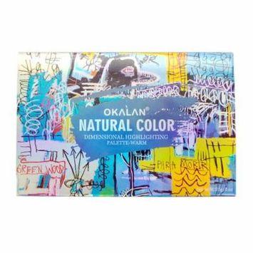 (3 Pack) OKALAN Natural Color Dimensional Highlight Palette - Warm