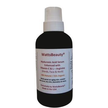 Watts Beauty Moisturizing Hyaluronic Acid Serum with Vitamin C - Advanced Antioxidant Skin Repair Gel - Made in USA - 1 oz