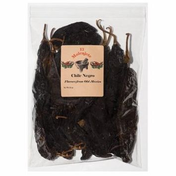 Pasilla Chilie Negro Mexican Whole Dried Chile- 1 Lb Resealable Bag - El Molcajete Brand for Mexican Recipes, Tamales , Salsa, Chili, Meats, Soups, Stews & BBQ