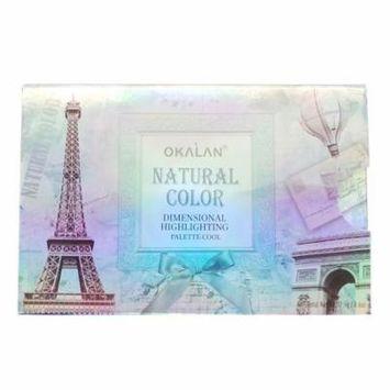 (3 Pack) OKALAN Natural Color Dimensional Highlight Palette - Cool