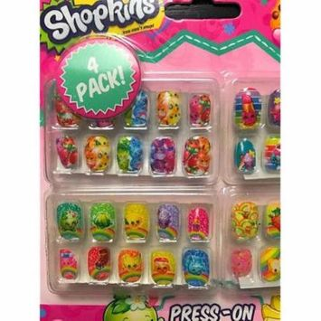 ***Discontinued***Shopkins 4pk Press On Nails
