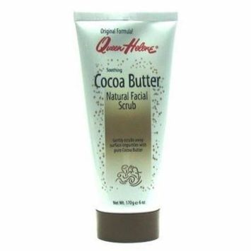 Queen Helene Cocoa Butter Natural Facial Scrub 6 oz. Tube (3-Pack) with Free Nail File