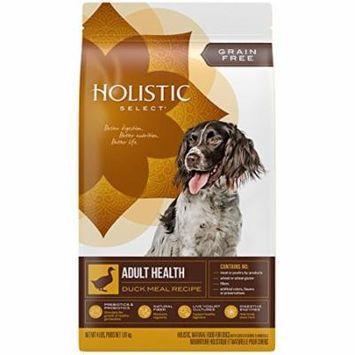 Holistic Select Grain-Free Duck Meal Adult Health Dry Dog Food, 4 Lb