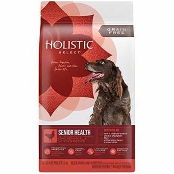 Holistic Select Grain-Free Chicken Meal & Lentil Senior Health Dry Dog Food, 4 Lb