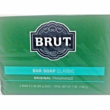 BRUT CLASSIC BAR SOAP ORIGINAL FRAGRANCE 2 BARS 3.5 OZ EACH