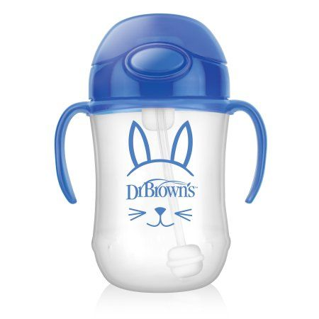 Handi-craft Company Dr. Brown's Baby's First Straw Cup, Cute Critters Blue, 9 ounce, Single