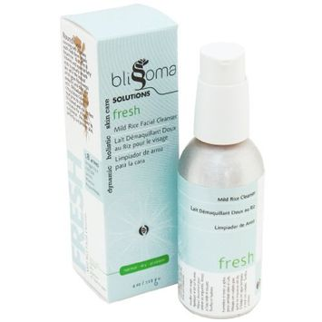Blissoma Solutions natural skincare Fresh Mild Rice Cleanser organic facial wash all skin types, 4 Oz, 120 Ml