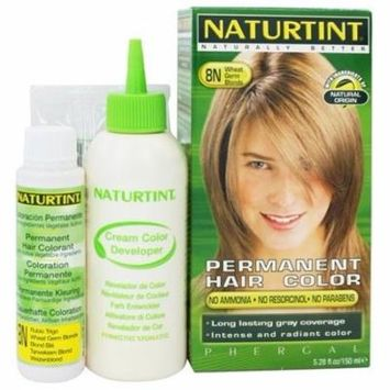 Permanent Hair Colorant 8N Wheat Germ Blonde - 4.5 fl. oz. by Naturtint (pack of 4)