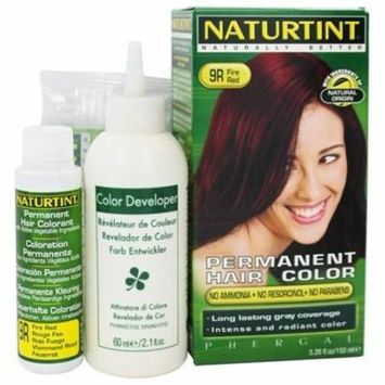 Permanent Hair Colorant 9R Fire Red - 4.5 fl. oz. by Naturtint (pack of 4)