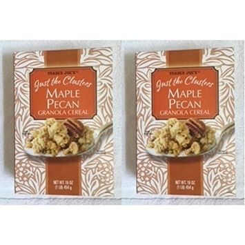 Trader Joe's Just the Clusters Maple Pecan Granola Cereal 16 oz. (Pack of 2 bxs)