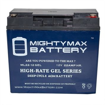 MIGHTY MAX BATTERY 12-Volt 22 Ah Rechargeable GEL Sealed Lead Acid (SLA) Battery