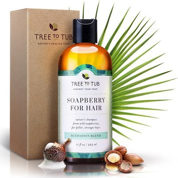 Real, Hair Growth Shampoo. The Only pH 5.5 Balanced Shampoo for Thinning Hair and Hair Loss – Hair Regrowth Treatment for Women and Men, with Organic Wild Soapberries, 8.5 oz—by Tree To Tub