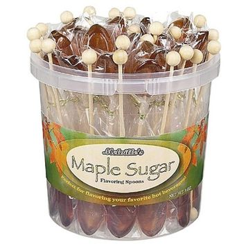Maple Sugar Flavoring Spoons Bulk Pack: 50 Count