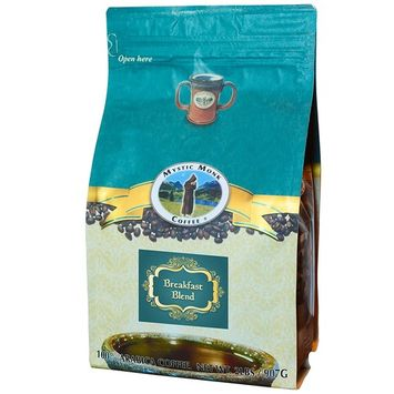 Mystic Monk Coffee: Breakfast Blend Whole Bean (Medium Roast 100% Arabica Coffee) - 32 Ounces
