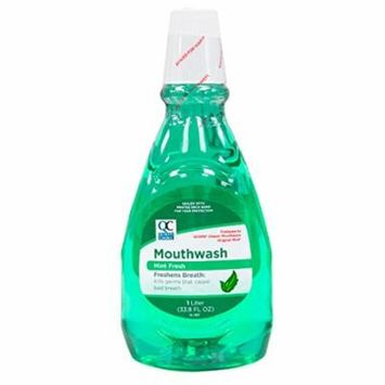 2 Pack Quality Choice Mint Fresh Mouthwash 33.8oz Each