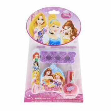 Disney Princess Girls Nail Polish Gift Set Emery Board Sparkle Toe Separator
