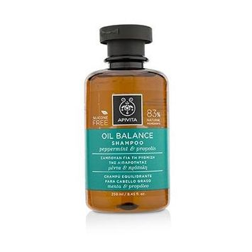 Apivita Oil Balance Shampoo With Peppermint & Propolis (for Oily Hair) 250ml/8.45oz