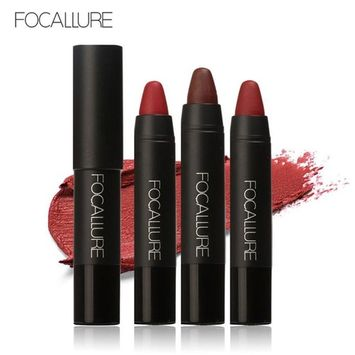 Matte Lipstick ,Showking FOCALLURE Long-lasting Red Velvet Matte Color Pencil Lipstick Crayon Makeup Set