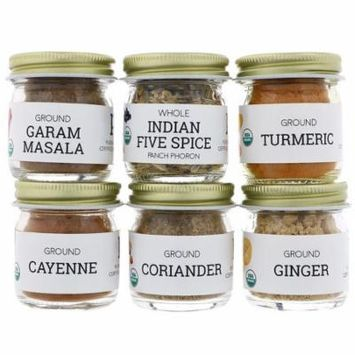 Pure Indian Foods Organic Indian Spice Starter Kit Experience Level Intermediate Variety Pack 6 Seasonings