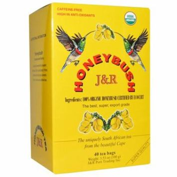 Port Trading Co J R Honeybush Tea Caffeine free 40 Tea Bags 3 53 oz 100 g