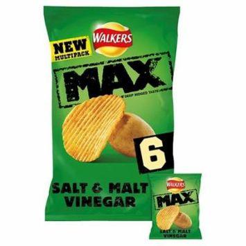 Walkers Max Salt & Vinegar Crisps 27gx6pk (Pack of 3)