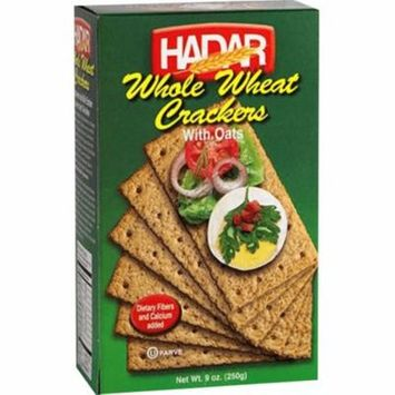 Hadar Kosher Whole Wheat Crackers With Oats - 9 Oz