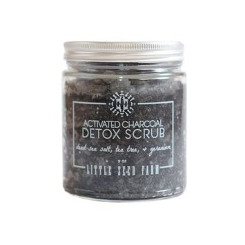 Little Seed Farm Activated Charcoal Detox Scrub, 9 Oz