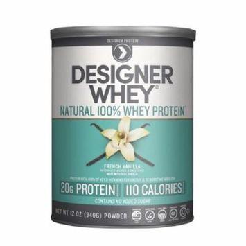 Designer Protein 100% Premium Whey Protein Powder, French Vanilla, 12 Ounce