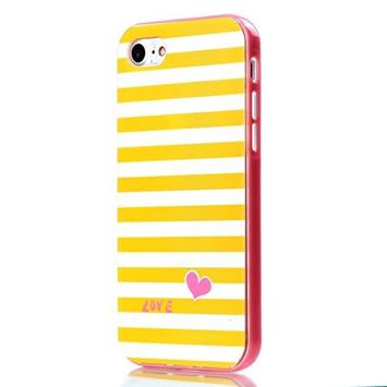 UCLL Iphone 7 Case, Soft and Hard Material Combined Case for 4.7 inch Iphone 7 with a free Screen Protector (Pink)