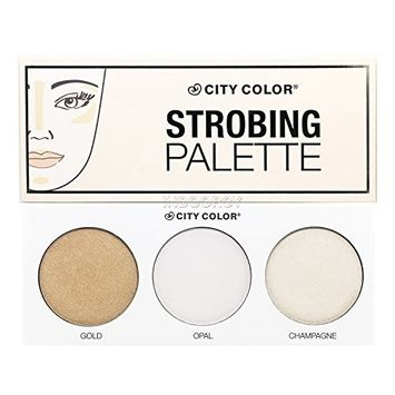 City color strobing palette WITH glitz fan brush