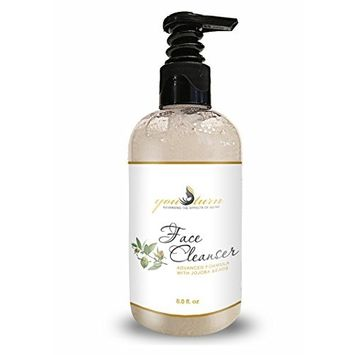 Face Wash & Facial Cleanser For Women & Men - Exfoliating Face Wash Helps With Blemishes & Blackheads - Natural Face Wash with Jojoba Beads - Gentle For Sensitive Skin - Acne Face Wash for Women & Men