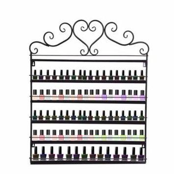 DZT1968 6 Tier Wall Mounted Metal Nail Polish Rack Perfume Display Cosmetic Shelf
