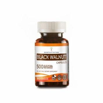 Black Walnut 90 Capsules, 500 mg, Organic Black Walnut (Juglans Nigra) Dried Hull