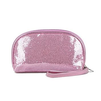 Garrelett Shimmery Sequined Top Zipper Evening Handbag Wallet Cosmetic Case Clutch Coins Purse Card Holder Cellphone Bag Organizer for Women Girls Ladies