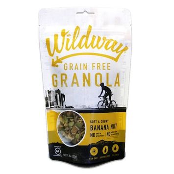Wildway Keto, Vegan Granola | Banana Nut | Certified Gluten Free, Paleo, Grain Free, Non GMO, Dairy Free, No Artificial Sweetener | 8oz, 6 pack [Banana Nut]