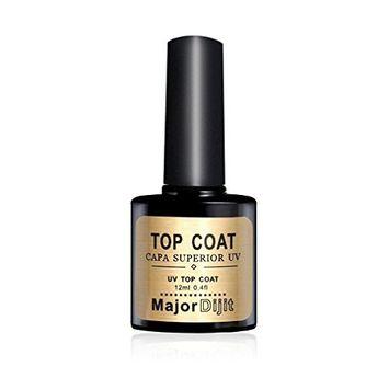 DZT1968 1bottle/12ml 72 kinds of colors MAJOR DIJIT New Gel Nail Polish Soak UV Gel Polish Top Low Coat Gel Nail Lacquer (top)