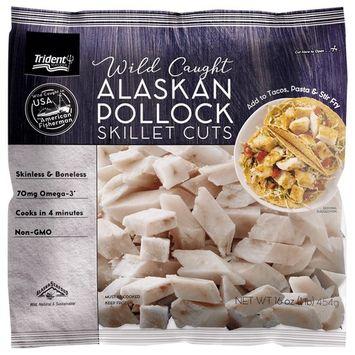 Trident Seafoods Wild Alaska Pollock Skillet Cuts, 1 Pound (Frozen)