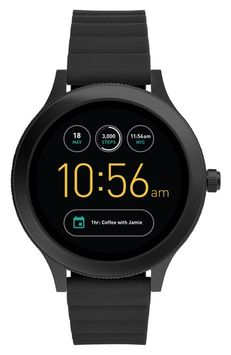 Fossil Q Venture Gen 3 Silicone Strap Smart Watch, 42mm